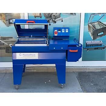 Makropack Manuel Kapaklý Shrink Makinesi - 50*60 Cm Mavi Yeni Model