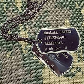 Lazer Baský Orjinal Asker Künyesi