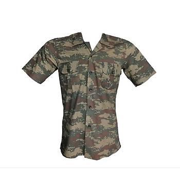 Yazlýk Kamuflaj Gömlek Kara Kuvvetleri