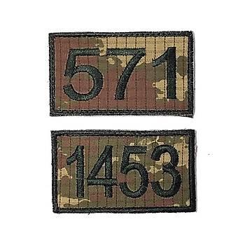 1453 - 571 PEÇ seti  - Arma - Askeri Patch