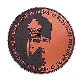 Sultan Alparslan - Kemal Atatürk Deri PEÇ- Arma - Patch