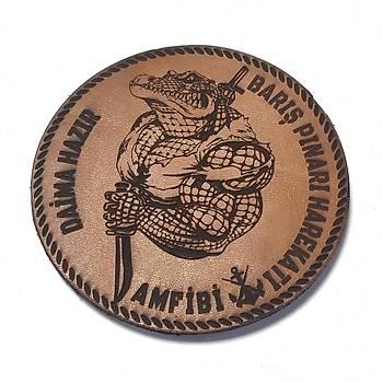 AMFÝBÝ Barýþ Pýnarý Deri PEÇ - Arma - Askeri Patch
