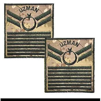 Uzman Çavuþ 7 Kademe Kamuflaj Rütbe (Kara Kuvvetleri)