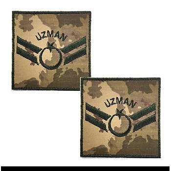 Uzman Çavuþ Kamuflaj Rütbe 9cmx9cm (Kara Kuvvetleri)