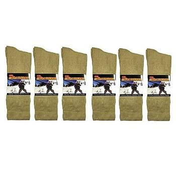 Askeri Kýþlýk Havlu Çorap Nano Yeþil (6 ÇÝFT)