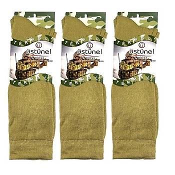 Askeri Kýþlýk Termal Çorap Nano Yeþil (3 Çift)