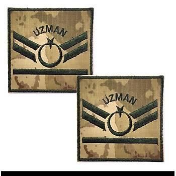 Uzman Çavuþ 1 Kademe Kamuflaj Rütbe 9cmx9cm (Kara Kuvvetleri)