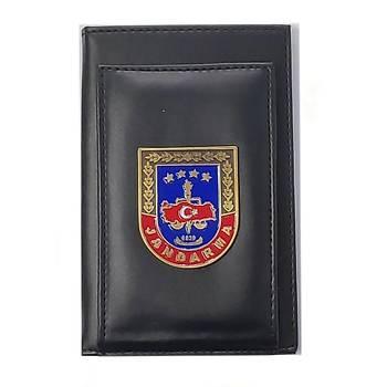 Jandarma Kalemlikli Not Defteri Cüzdan (Metal Rozet)