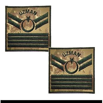 Uzman Çavuþ 4 Kademe Kamuflaj Rütbe 9cmx9cm (Kara Kuvvetleri)