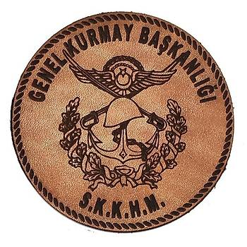 Genel Kurmay Baþkanlýðý Deri PEÇ - Arma - Askeri Patch