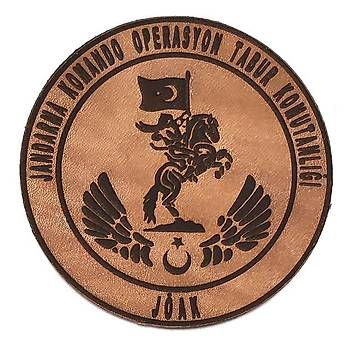Jandarma Komando Operasyon Tabur Komutanlýðý Deri PEÇ - Arma - Askeri Patch
