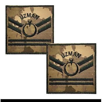 Uzman Çavuþ 2 Kademe Kamuflaj Rütbe 9cmx9cm (Kara Kuvvetleri)