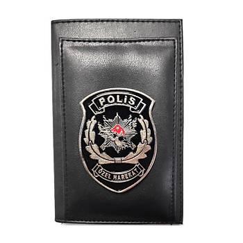 Polis Özel Harekat Kalemlikli Not Defteri Cüzdan (Metal Rozet)