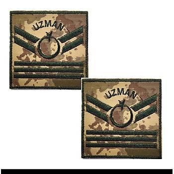 Uzman Çavuþ 3 Kademe Kamuflaj Rütbe 9cmx9cm (Kara Kuvvetleri)