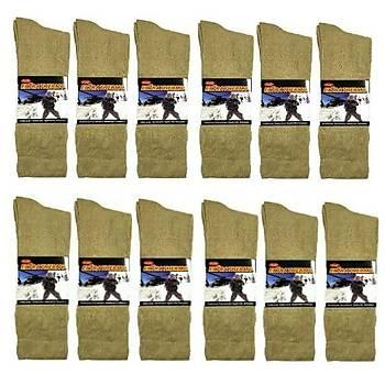 Askeri Kýþlýk Havlu Çorap Nano Yeþil (12 ÇÝFT)