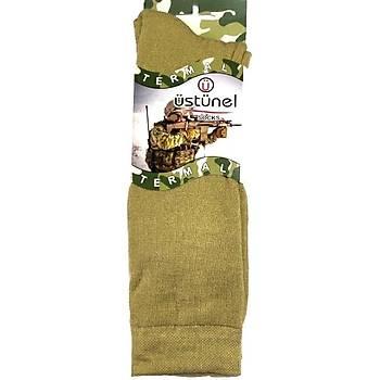 Askeri Kýþlýk Termal Çorap Nano Yeþil