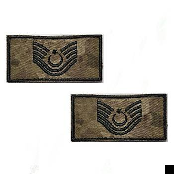Astsubay Kýdemli Üstçavuþ Tiþört Rütbesi 2 Adet ( Kara Kuvvetleri Yeni Kamuflaj )