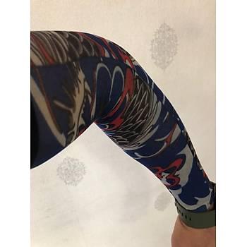 Giyilebilir Dövme Mavi Rüya Dövme Çift Kol