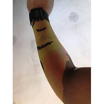 Çift Kol Giyilebilir Dövme Yarasa Tattoo Sleeve