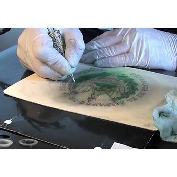 2 Adet Dövme Derisi Çift Taraflý Latex Suni deri tattoo