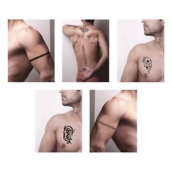 Güçlü Erkek Modelleri Sprey Dövme ve Þablon Seti Tattoo