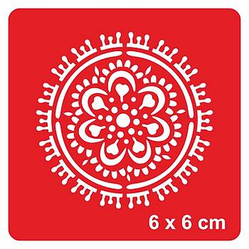 Mandala 366 Dövme Þablonu Kýna Deseni