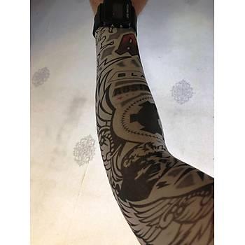 Çift Kol Giyilebilir Dövme Kanat Desenler Tattoo Sleeve