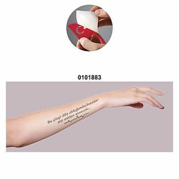 Sevgi Yazýsý Tattoo Dövme Þablonu Kýna Deseni