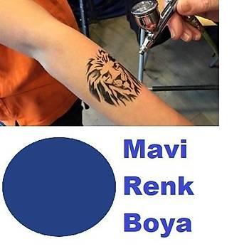 Mavi Renk Paasche Marka Airbrush Boyasý Konsantre Ýthal