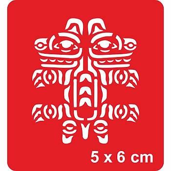 Maori Aslan Dövme Þablonu Kýna Deseni