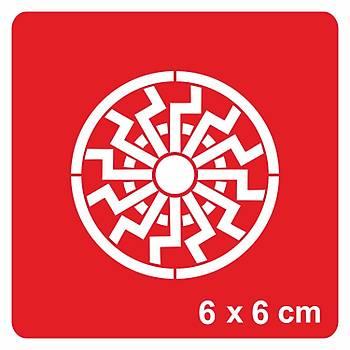 Geometrik Mandala Dövme Þablonu Kýna Deseni