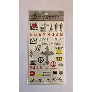 Haçlý Yapýþtýrma Sticker Dövme Geçici Dövme Temporary Tattoos