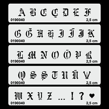 Büyük Harf Gotik Font Tükenmez Dövme Þablonu