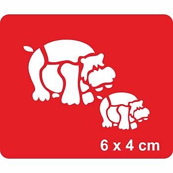Hipopotamlar Dövme Þablonu Kýna Deseni