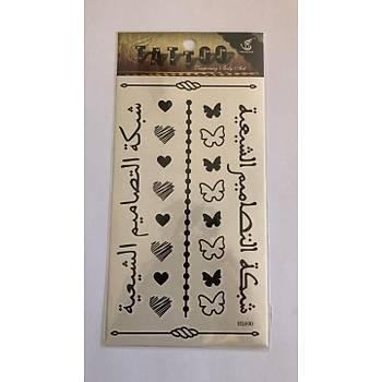 Arapça Yapýþtýrma Sticker Dövme Geçici Dövme Temporary Tattoos