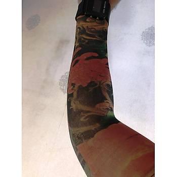 Çift Kol Giyilebilir Dövme Alev Desenler Tattoo Sleeve
