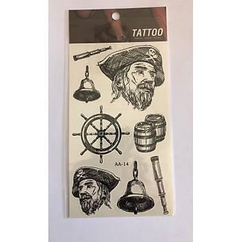 Denizci Yapýþtýrma Sticker Dövme Geçici Dövme Temporary Tattoos