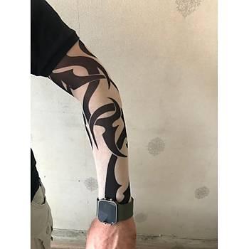Giyilebilir Dövme Tribal Dövme Çift Kol