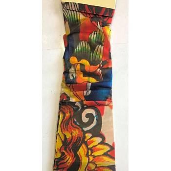 Çift Kol Giyilebilir Dövme Karizma Tattoo Sleeve