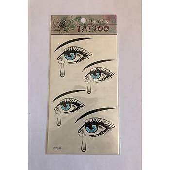Göz Yapýþtýrma Sticker Dövme Geçici Dövme Temporary Tattoos