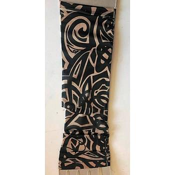 Çift Kol Giyilebilir Dövme Tribal Desenler Tattoo Sleeve