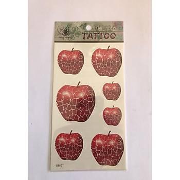 Yapýþtýrma Sticker Dövme Elma Geçici Dövme Temporary Tattoos