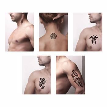 Tribal Kol Dövmesi Sprey Dövme ve Þablon Seti Tattoo