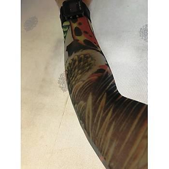 Çift Kol Giyilebilir Dövme Kartal Desenler Tattoo Sleeve