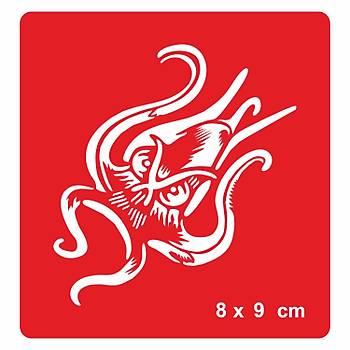 Ahtapot-Octopus Dövme Þablonu Kýna Deseni