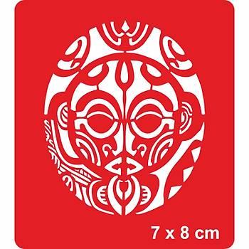 Maori Özgür Savaþçý Dövme Þablonu Kýna Deseni