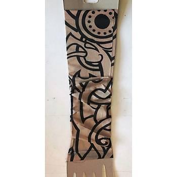 Çift Kol Giyilebilir Dövme Tribalci Desenler Tattoo Sleeve