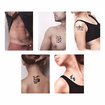 Tattoo Dövme Spreyi ve Þablon Seti- Yýlbaþý Noel Tattoo