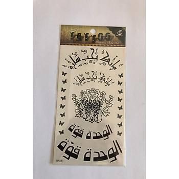 Arabic Yapýþtýrma Sticker Dövme Geçici Dövme Temporary Tattoos