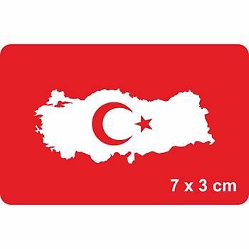 Türkiye Haritasý Geçici Dövme Kýna Þablonu